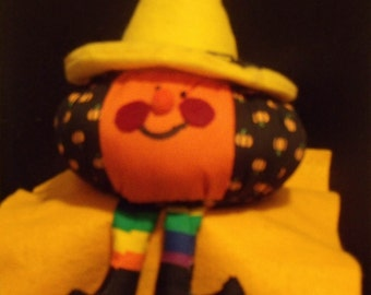 Pumpkin Sporting It's Yellow Hat B3