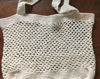 Market or beach bag- crocheted