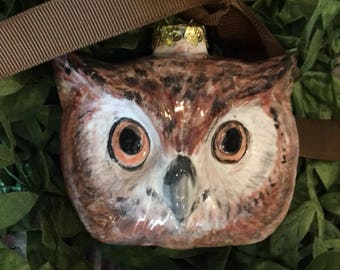 Presale for Hand Painted Woodland Owl Christmas  Ornament