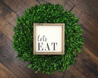 Lets Eat Sign | Wood Sign | Kitchen Sign | Kitchen Decor | Farmhouse Kitchen | Farmhouse Sign | Farmhouse Style | Fixer Upper Style | Family