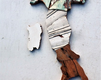 Mosaic Italy, Wood Mosaic Art, Italian Decor, Italy Wall Art, Reclaimed Wood Art, Country Outline, Italian Wall Decor, Rustic Italian Art