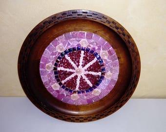 Manadala wood and mosaic