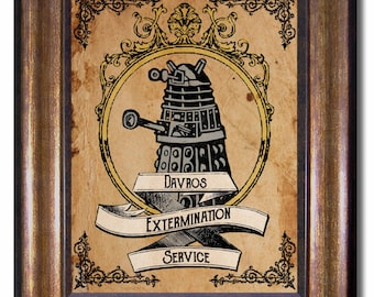 Doctor who tardis vintage style poster multiple sizes 5x7 doctor who dalek extermination poster available in multiple sizes 5x7 8x10 11x14 sciox Gallery