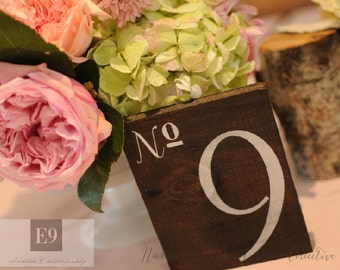 Wedding Table Numbers, Wooden Table Numbers Wedding - Single table number - TB-16
