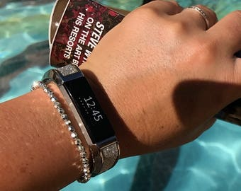 Bangle ARTEMIS - for Fitbit Alta - Alta HR - Jewelry - Stainless Steel & Glitter - more colors available