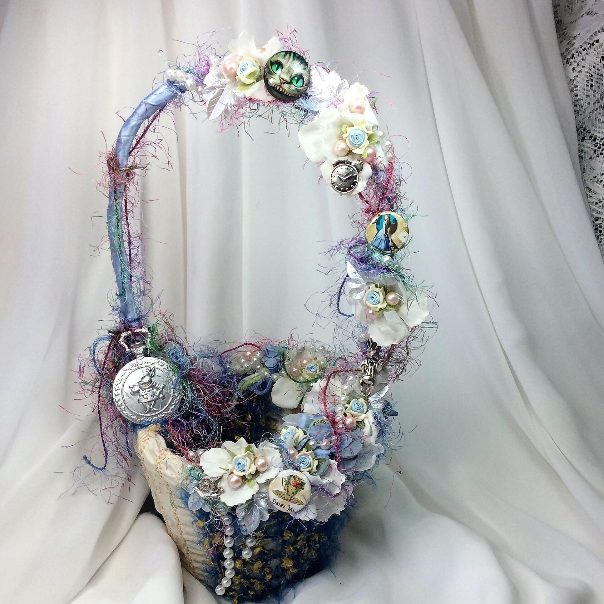 Wonderland Alice Wedding Flower Basket-Flower Girl-Disney