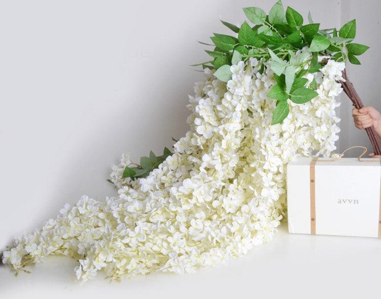 5pcs Artificial Silk Wisteria Home Garden Hanging Flowers