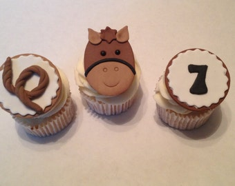 Horse Fondant Cupcake Toppers