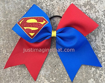 "3""x7""x7"" Texas Sized Superhero Cheer Bow"