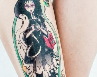 Lydia Deetz Beetlejuice Temporary Tattoo