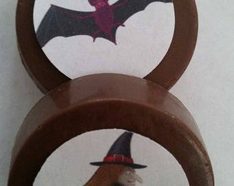 free personalization- 24 WITCH Halloween chocolate lollipops or oreos