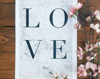 LOVE (luv) Print