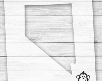 DIY Art Stencil - Nevada State Outline Stencil