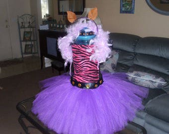 Birthday Monster High Clawdeen Costume Flower Girl Tutu Dress