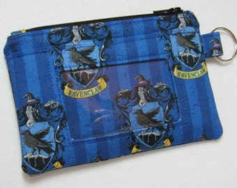 Harry Potter Hogwarts Ravenclaw Keychain ID Wallet, Student / Teacher / Work ID, Badge Holder, Coin Purse - 2 Options for ID Pocket