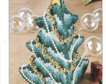 O Christmas Tree Plastic Canvas Pattern, Christmas Decoration, Holiday Home Decor, Table Centerpiece, Annie's International