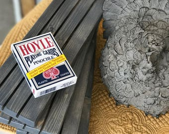 Qty 2- Wood Playing Card Holders -Handmade