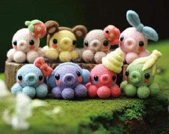 Needle felting kit - octopus set