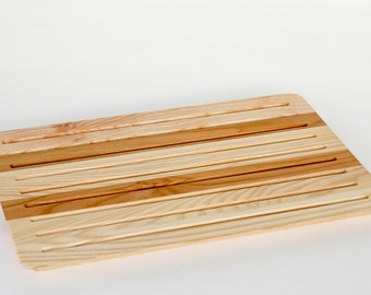 cutting board for bread natural wood