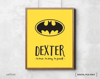 Batman Superhero Print, Superhero Printables, Superhero Wall Art, Batman Print, Batman Wall Art, Batman poster, Superhero Wall Art