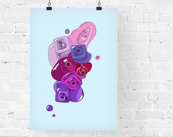 7 Purples Fashion Illustration Art Print