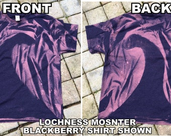 Loch Ness Monster Distressed Dyed Shirt