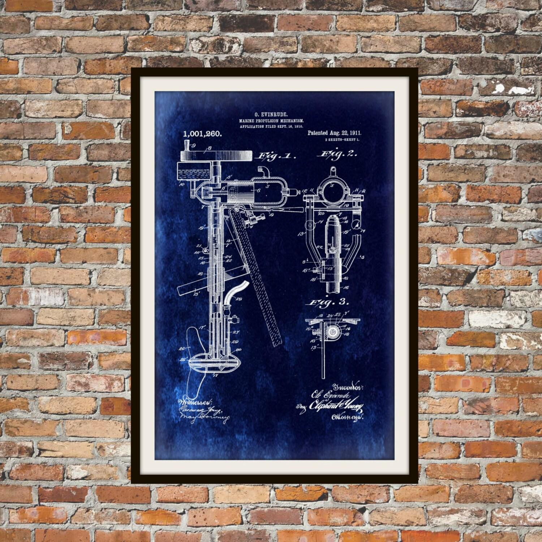 Blaupause Kunst des Patent Aussenborder Motor Technische