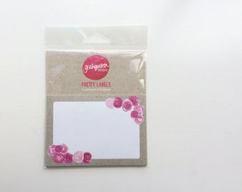 Peony Mailing Labels, Peony Address Labels, Flower Labels, Shipping Labels, Wedding Address Labels, Address Labels, Adress stickers