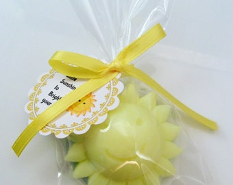 50 Sunshine Soap Favors / Birthday Favors / Wedding Favors / Shower Favors / Sun Soap Favors