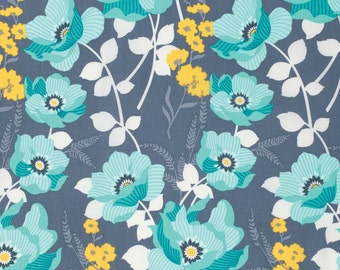 Mint Monarch by Joel Dewberry Free Spirit fabrics textiles Teal and grey modern quilting fabric