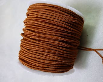 2 m of caramel brown elastic 1 mm