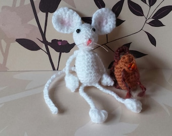 Crochet mouse, hand made mouse, amigurumi mouse, cute mouse, hand crafted mouse, dangly mouse, mouse ornament, tiny mouse, wool mouse