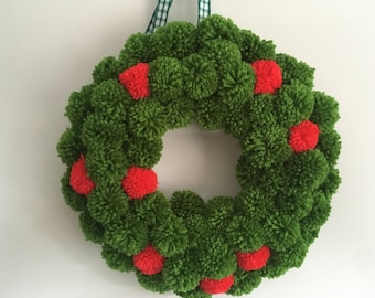 Pom Pom wreath large