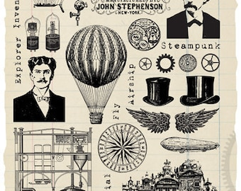Steampunk Elements rubber stamps