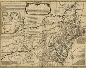 Poster, Many Sizes Available; Map Of Virginia Maryland New Jersey Delaware 1771