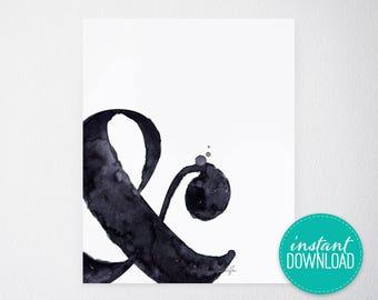 Ampersand Printable