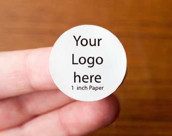 1 inch sticker printing - white glossy paper
