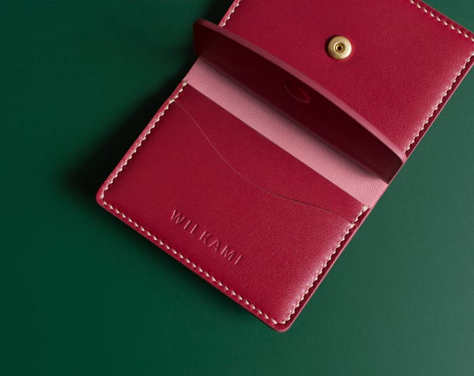 Hand Sewn Leather Wallet - Bifold Wallet - Handmade Minimal Wallet - Hand Stitched Wallet - Men Women Wallet - Bifold Card Holder