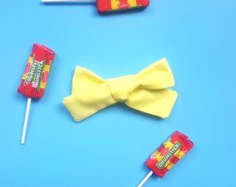 Lemon Bon Bons bow Baby Girl, Toddler, Girls Fabric Bow Headband or Hair Clip