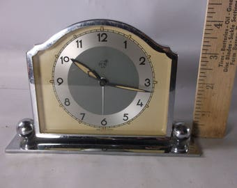 Vintage Art Deco Muller And Company  Alarm Desk Clock .epsteam
