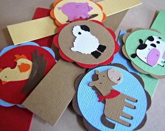 Barnyard Party Napkin Rings, Barn Party Napkin Rings, Farm Napkin Rings, Farm Animal Napkin Rings, Barnyard Birthday Party, Farm, Set of 12