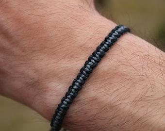 male bracelet, men's bracelet, boy bracelet, two colour bracelet, hemp bracelet