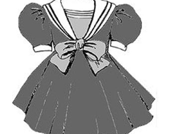 """23"""" My Twinn Sailor Dress - doll clothes sewing pattern pretty PDF 70204"""