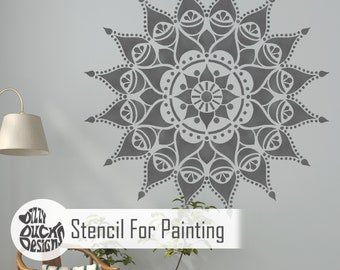 NASHIK MANDALA STENCIL - Indian Floor Wall Furniture Craft Stencil for Painting - NASH01