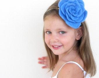Wool felted flower headband - Women & Girls - 25 Petals - Felt Soft Fashion Fascinator - Choose any Color you like