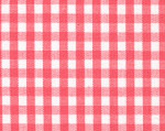 "HALF YARD 1/8"" WATERMELON Fabric Finders Gingham"