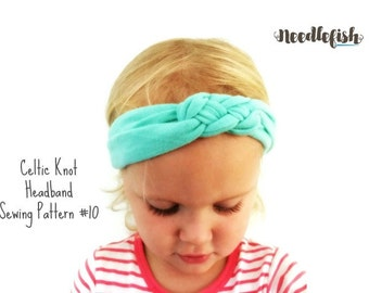 BABY HEADBAND Sewing Pattern - Celtic Knot Headband Sewing Pattern - Sailor Knot Headband - Adult Headband - Baby Knotted Headband