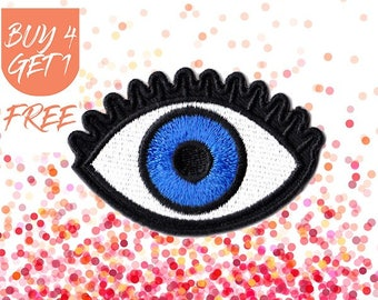 Evil Eye Patch Eyeball Patch Iron On Patch Embroidered Patch Eye Amulet Embroidered Eyes