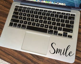 Smile MacBook decal, Positive Quote Sticker, Bumper sticker, Macbook Pro Sticker, Happy Macbook Air Decal, Inspirational Good Vibes Sticker