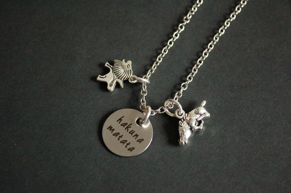Hakuna Matata The Lion King Inspired Necklace